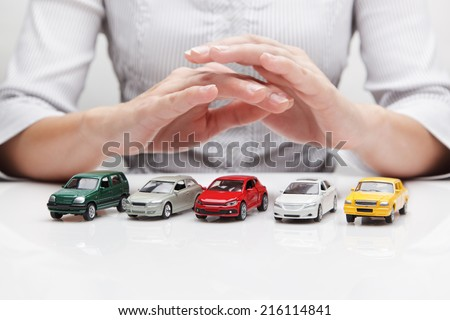 Protection of cars (concept)  - stock photo