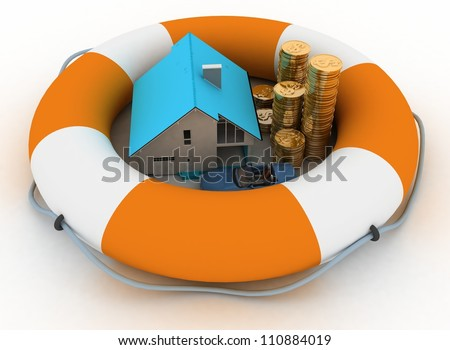 protection of property - stock photo
