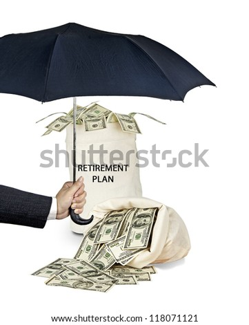 Protection of retirement plan - stock photo