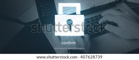 Protection Password Security Safety Concept - stock photo
