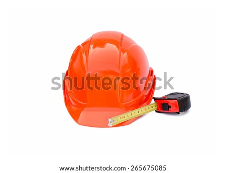 Protective construction helmet and roulette the isolated - stock photo