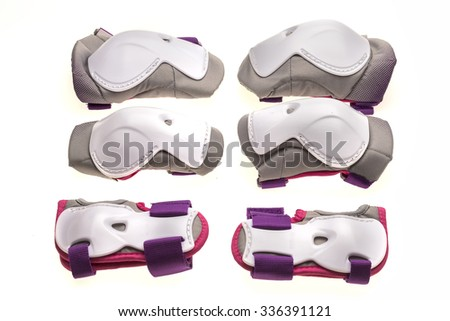 Protective equipment for skating - stock photo