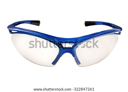 Protective eyeglasses isolated on white. - stock photo