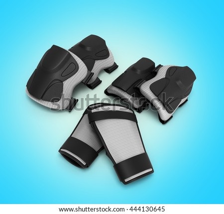 Protective gear for multi sport 3d render on gradient background