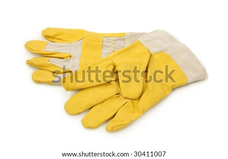 Protective gloves isolated on white background