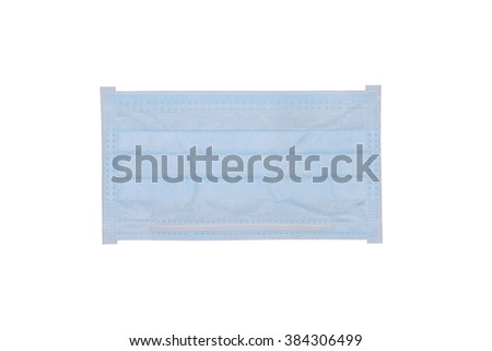 Protective mask isolated on white background - clipping path.