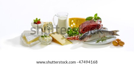 protein food - stock photo