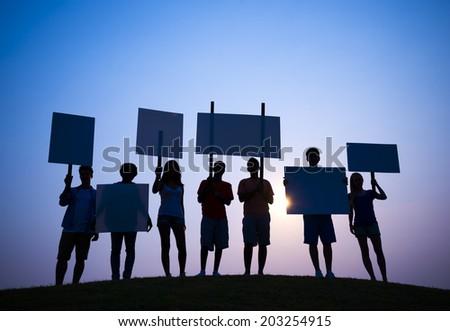 Protest - stock photo