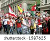 Protest march in London against Lebanon bombing by Israel - stock photo