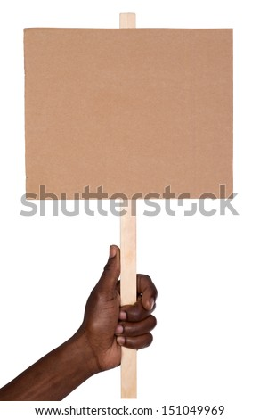 Protest sign - stock photo