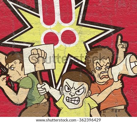 Protest symbol - stock photo