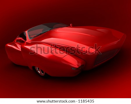 prototype car - stock photo