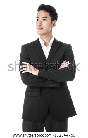 Proud businessman posing - stock photo