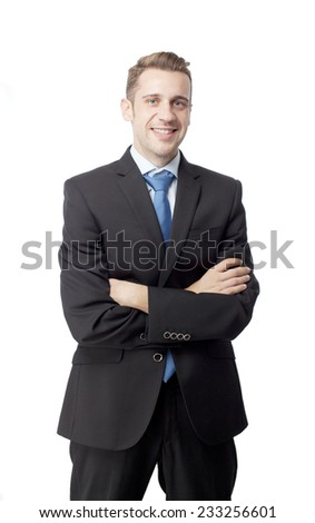 proud man in suit - stock photo
