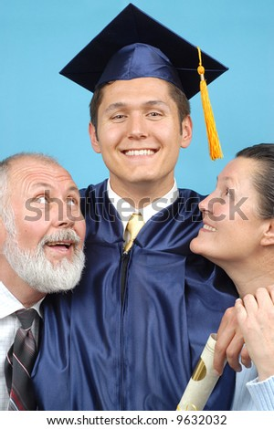 Proud parents with their graduate son