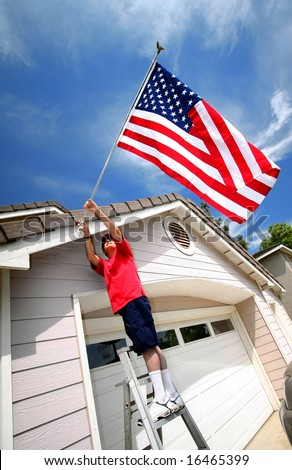 Proud To Be An American - stock photo