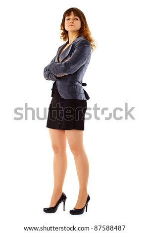 Proud young woman in a business suit - stock photo