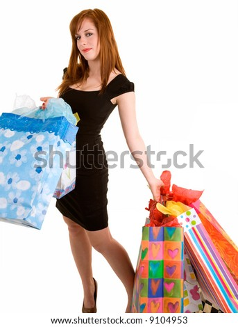 Proud Young Woman on a Shopping Spree