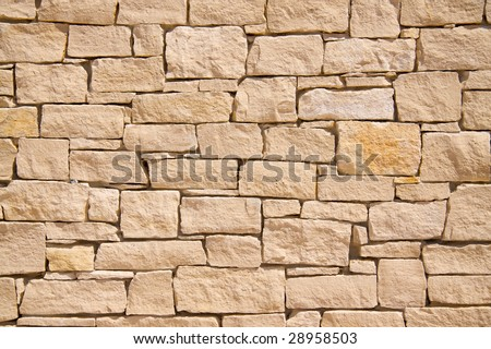 provencal stone wall background - stock photo