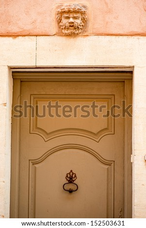 Provence typical door - stock photo