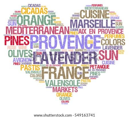 Provence word cloud