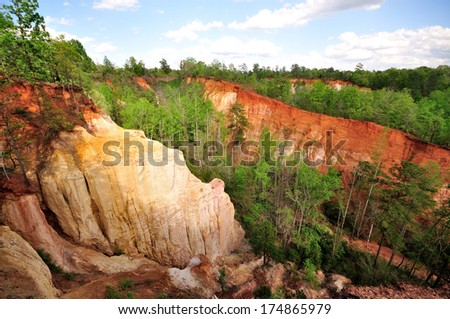 Providence Canyon State Park - dubbed as the little Grand Canyon - stock photo