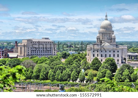 Providence, Rhode Island. City in New England region of the United States. State capitol building. - stock photo