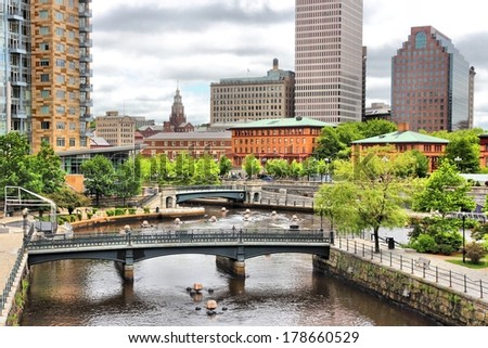 Providence, Rhode Island. City view in New England region of the United States. - stock photo