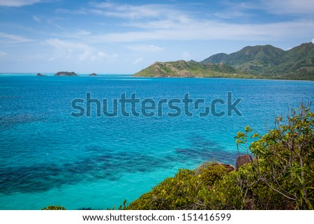 Providencia, Colombia, from Crab Cay - stock photo