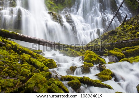 Proxy Falls in Oregon - stock photo