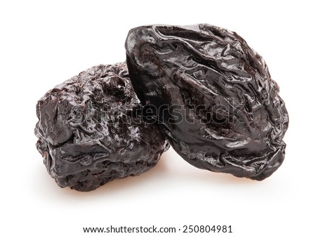 prunes isolated - stock photo