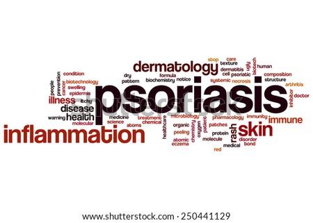 Psoriasis word cloud concept - stock photo