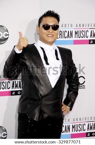 PSY at the 2012 American Music Awards held at the Nokia Theatre L.A. Live in Los Angeles, USA on November 18, 2012. - stock photo