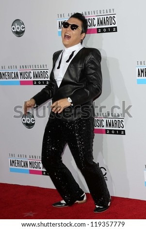 Psy at the 40th American Music Awards Arrivals, Nokia Theatre, Los Angeles, CA 11-18-12 - stock photo