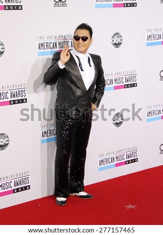PSY at the 40th Anniversary American Music Awards held at the Nokia Theatre L.A. Live in Los Angeles, United States, 181112.  - stock photo