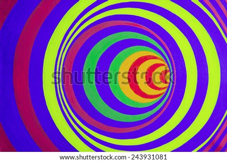 Psychedelic colorful optical illusion Art background - stock photo