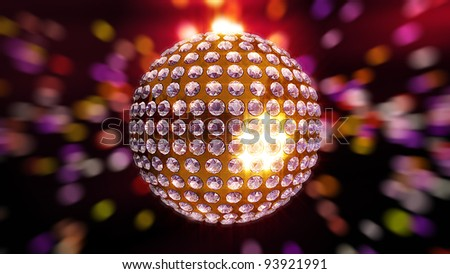 Psychedelic Disco Ball Background - stock photo