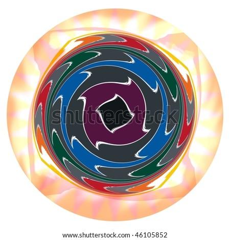psychedelic eyeball - stock photo