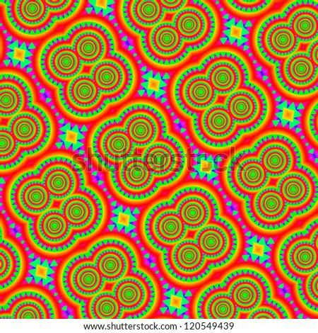 Psychedelic mandala hippy style abstract background - stock photo