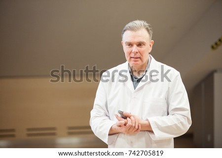 Psychiatrist reading lecture, doctor telling lecture and answering questions