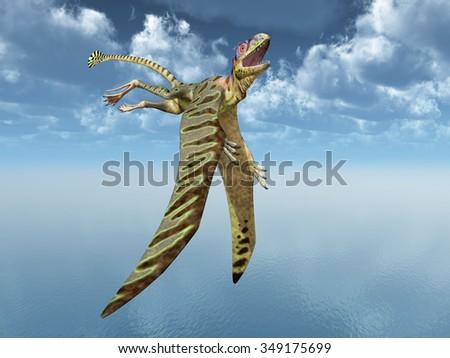 Pterosaur Peteinosaurus Computer generated 3D illustration - stock photo