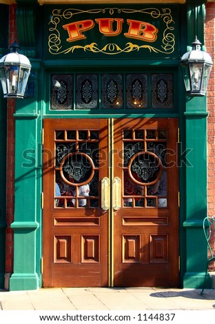 pub doorway - stock photo