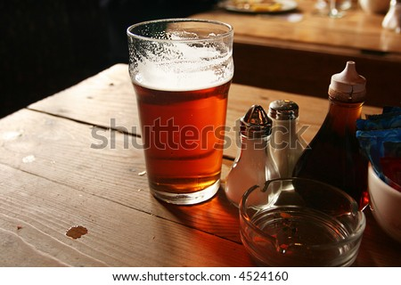Pub Lunch in a Rustic English Inn - stock photo