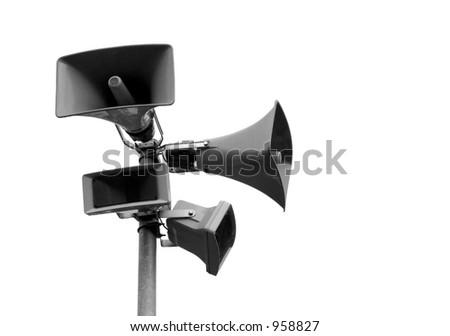 Public announcement system - stock photo