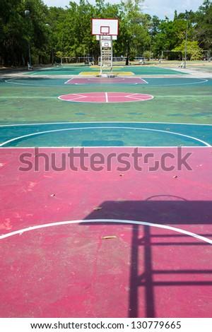 public basketball court - stock photo