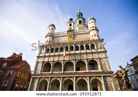 Public building: Old town hall in Poznan - Poland - stock photo