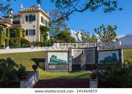 Public garden in Ponta Delgada on the azores - stock photo