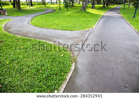 Public garden walkway - stock photo