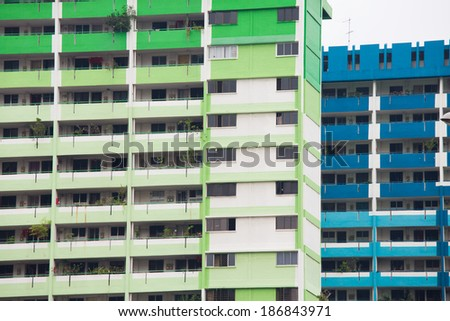 Public Housing Apartment - stock photo