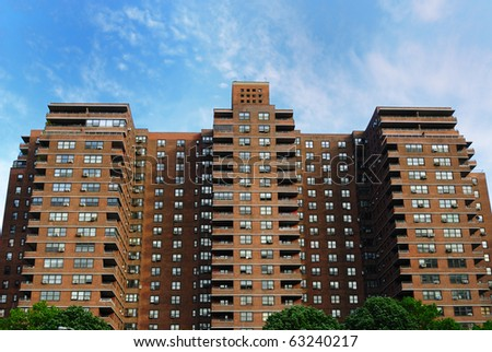 Public Housing in New York City. - stock photo